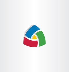 colorful triangle abstract business logo vector image