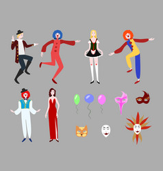 flat carnival collection vector image