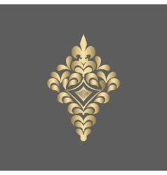 Ornate golden ornament for decoration vector image vector image