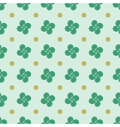 Polka dot and flower geometric seamless pattern 1 vector image vector image