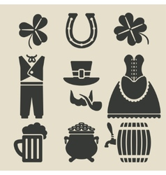 St Patricks Day symbols set vector image vector image