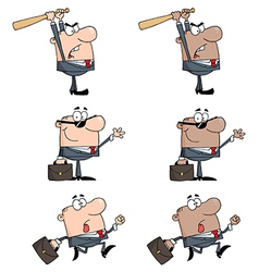 Business Man-Collection vector image vector image
