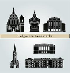 bydgoszcz landmarks vector image vector image