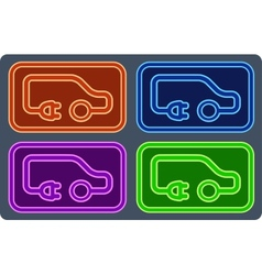 colorful electrical vehicle set vector image vector image