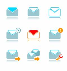 emails icon-set vector image vector image