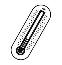 fever thermometer icon simple style vector image vector image