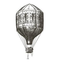 hot air balloon logo design template retro vector image vector image