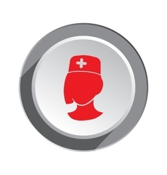 Medical hospital nurse doctor icon Woman face vector image vector image
