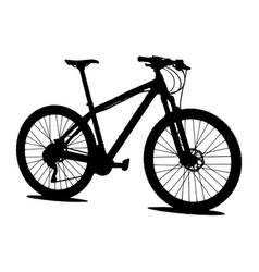 mtb mountain bike silhouette vector image