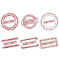 Secret stamps vector image vector image