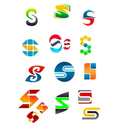 set of alphabet symbols vector image vector image