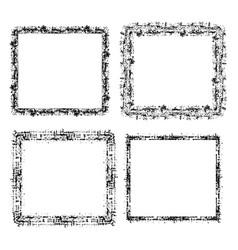 set of square grunge frame vector image vector image