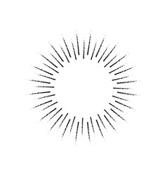 sunburst icon vintage vector image