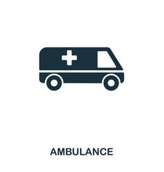 ambulance icon line style icon design ui vector image