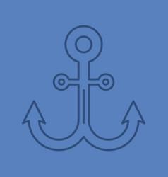 Anchor color linear icon vector