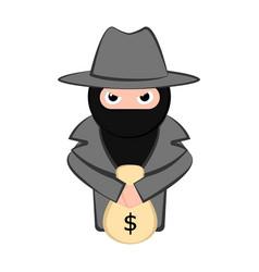 Angry thief cartoon vector