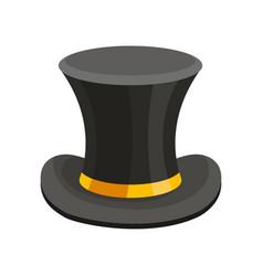 Black top hat classic cylinder vector