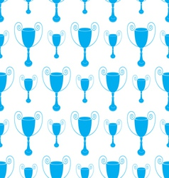 Blue Seamless pattern with trophy vector