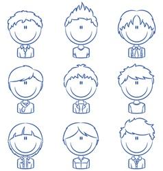 Boys avatar vector image