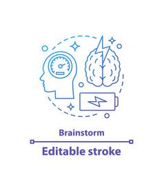 Brainstorm concept icon vector