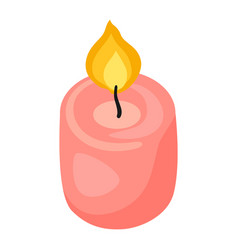 Burning candle icon for design vector