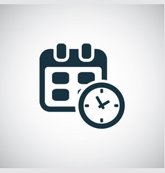 calendar time icon for web and ui on white vector image