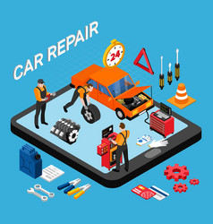 car repair concept vector image