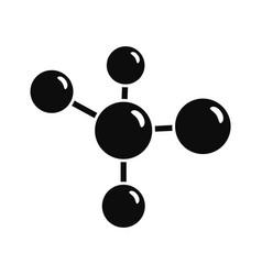 Chemistry molecule icon simple style vector