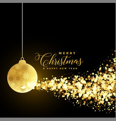 christmas festival greeting with xmas ball and vector image
