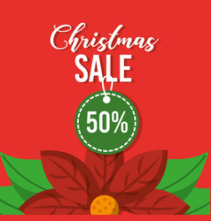 christmas sale tag discount season marketing vector image