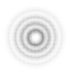 circle halftone dotted on white background vector image