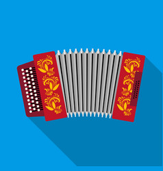 Classical bayan accordion or harmonic icon in vector