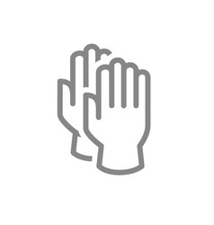 cleaning gloves line icon hand protective vector image