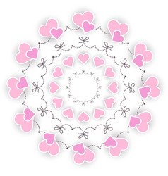 colored circular round wedding romantic mandala vector image