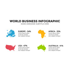 countries map infographic global business vector image