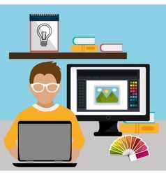 Creative ideas graphic designer vector image