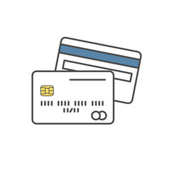credit card single line icon on white background vector image