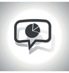 Curved diagram message icon vector image