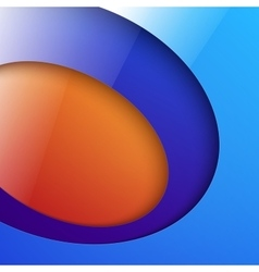 Cut out shiny blue and orange circle shapes vector