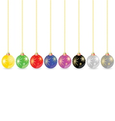 decorative ball in different color vector image