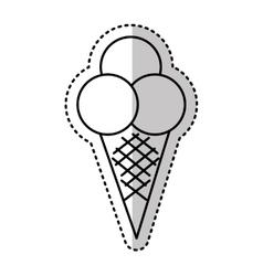 Delicious sweet ice cream icon vector