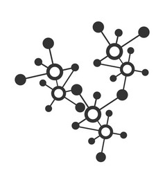digital network connection or molecular icon and vector image