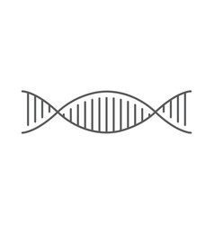 Dna structure icon isolated on white background vector