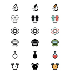 Education Outline Filled and Colored Icons 3 vector