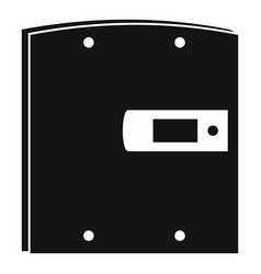 electric door icon simple style vector image