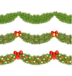 elegant watercolor seamless tileable pine dividers vector image