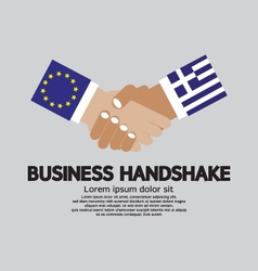 European Union And Greece Business Handshake vector