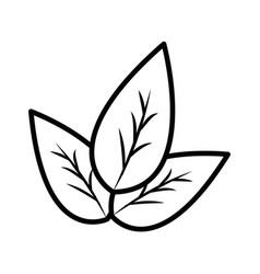 Figure leaves eco health food vector