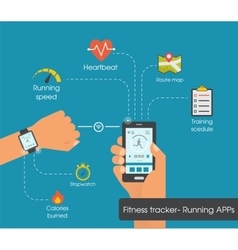 Fitness tracker app graphic user interface vector