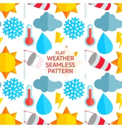 Flat weather colorful seamless pattern vector image